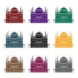 Icône de citadelle du Caire dans le style noir d'isolement sur le fond blanc Illustration de vecteur d'actions de symbole d'Egypt Photo stock