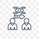 Icône de clonage de vecteur d'isolement sur le fond transparent, C linéaire illustration libre de droits