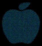 Icône de collage d'Apple des cercles tramés Illustration Stock
