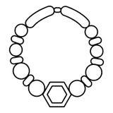 Icône de collier de perle, style d'ensemble illustration stock