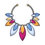 Icône de collier de pierre gemme, style de bande dessinée illustration de vecteur