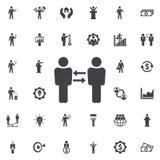 Icône de communication d'affaires Photographie stock libre de droits