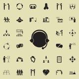 Icône de communication d'Internet Ensemble détaillé d'icônes de conversation et d'amitié Signe de la meilleure qualité de concept Image libre de droits