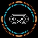 Icône de contrôleur de jeu vidéo - manette, jeu de jeu illustration stock
