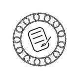 Icône de contrat avec le concept de blockchain Future technologie illustration libre de droits