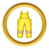 Icône de costume de sapeur-pompier illustration libre de droits