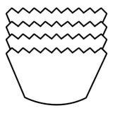 Icône de cuisson de moules, style d'ensemble Photographie stock libre de droits