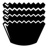 Icône de cuisson de moules, style simple Images stock