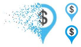 Icône de désintégration de Dot Halftone Bank Map Marker illustration libre de droits