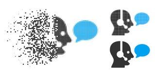 Icône de désintégration de Dot Halftone Operator Message Balloon illustration de vecteur