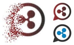 Icône de désintégration de Dot Halftone Ripple Chat Balloon illustration libre de droits