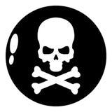 Icône de danger, style noir simple illustration stock