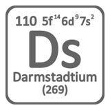 Icône de darmstadtium d'élément de table périodique Photos libres de droits