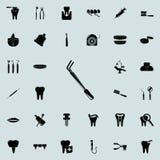 Icône de dentiste Ensemble détaillé d'icônes dentaires Signe de la meilleure qualité de conception graphique de qualité Une des i illustration stock