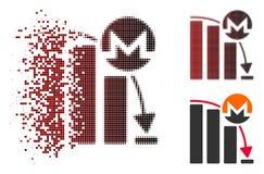 Icône de diagramme de Dot Halftone Monero Falling Acceleration de la poussière Illustration de Vecteur