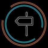 Icône de direction de carrefour illustration de vecteur