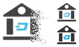 Icône de disparition de Dot Halftone Dash Bank Building illustration de vecteur