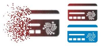 Icône de disparition de Dot Halftone Iota Banking Card Illustration de Vecteur