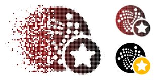 Icône de disparition de Dot Halftone Iota Favourites Star illustration stock