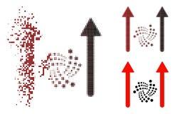 Icône de disparition de Dot Halftone Iota Send Arrows illustration de vecteur