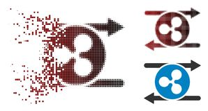 Icône de dissolution de Dot Halftone Ripple Transaction Arrows Illustration Libre de Droits