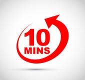 Icône de Dix minutes illustration stock