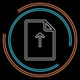 Icône de dossier de téléchargement de vecteur - cote du document de dossier illustration libre de droits