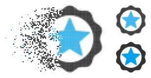 Icône de Dot Halftone Award Star Seal de la poussière illustration libre de droits