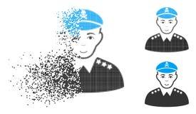 Icône de Dot Halftone Evil Army General d'étincelle avec le visage illustration de vecteur