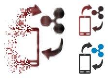 Icône de Dot Halftone Ripple Mobile Banking d'étincelle Illustration de Vecteur