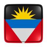 Icône de drapeau de l'Antigua-et-Barbuda Photos libres de droits