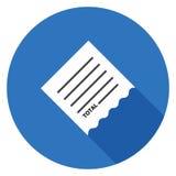 Icône de facture de paiement dans la conception plate Photos libres de droits