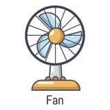 Icône de fan, style de bande dessinée Images stock