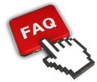 Icône de FAQ Photos stock