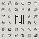 Icône de fenêtre Ensemble détaillé de ligne minimalistic icônes Conception graphique de la meilleure qualité Une des icônes de co illustration de vecteur