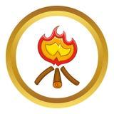 Icône de feu de camp illustration stock