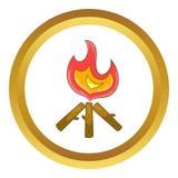 Icône de feu de camp illustration de vecteur