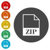 Icône de fichier zip illustration stock