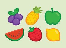 Icône de fruit de myrtille Image stock