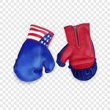 Icône de gants de boîte, style réaliste illustration libre de droits