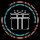 Icône de giftbox d'isolement par illustration de boîte-cadeau de vecteur - symbole graphique actuel de vacances - illustration libre de droits