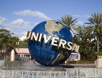 Icône de globe aux studios universels Orlando Florida Photos libres de droits