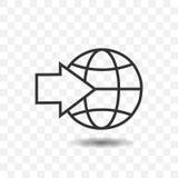 Icône de globe avec la flèche Photographie stock