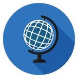 Icône de globe dans la conception plate Photo libre de droits
