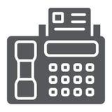 Icône de glyph de fax, copie et dispositif, signe d'imprimante, graphiques de vecteur, un modèle solide sur un fond blanc illustration de vecteur