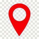 Icône de goupille d'emplacement sur transparent signe de goupille d'emplacement Style plat illustration de vecteur