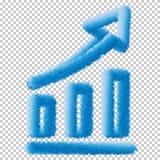 Icône de graphique Vecteur Eps10 de signe de diagramme d'analytics d'affaires illustration stock