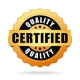 Icône de haute qualité de vecteur de produit certifié illustration stock