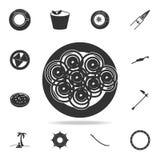 icône de jalebi Ensemble détaillé d'icônes indiennes de culture Conception graphique de qualité de la meilleure qualité Une des i illustration stock