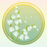 Icône de jeu avec la fleur du muguet Image libre de droits